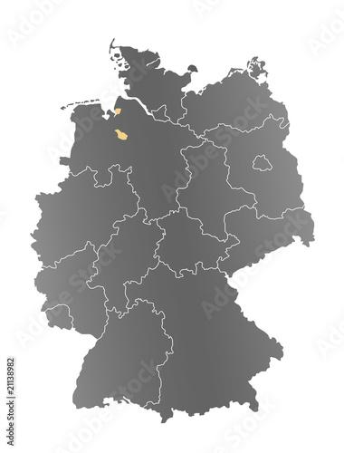 Deutschlandkarte Bremen Buy This Stock Photo And Explore Similar