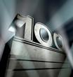 Leinwanddruck Bild - 100 birthday celebration monument anniversary