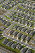 canvas print picture - Aerial view of houses in typical home community