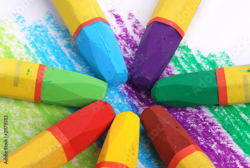 color wheel by crayons buy this stock photo and explore similar