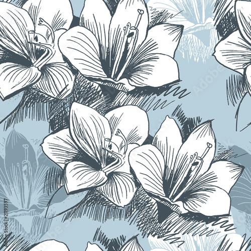 Fototapeta Seamless floral background obraz na płótnie