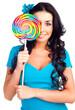 girl with a lollipop