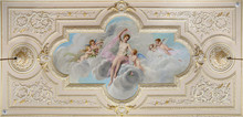 Ceiling Fresco With Figure Of A Woman And  Little Angels