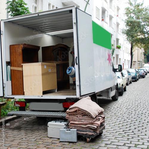 Fotografie, Obraz  moving house van
