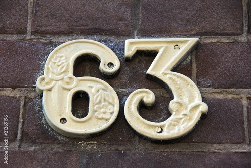 House Number: 63 Tablou Canvas