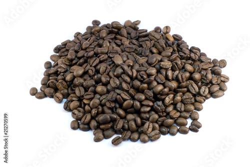 Aluminium Prints Coffee beans café en vrac