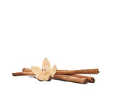 Cinamon sticks and flower