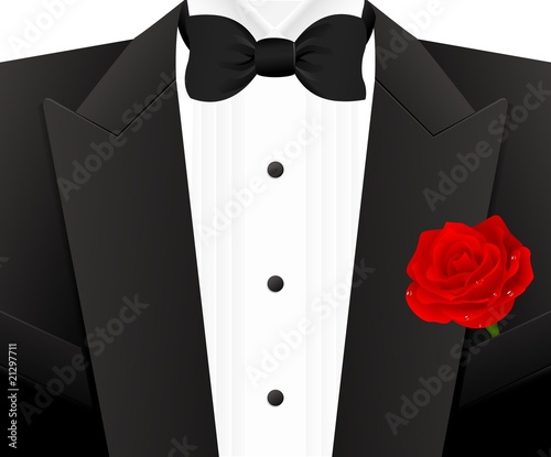 Fotografia Bow tie with rose