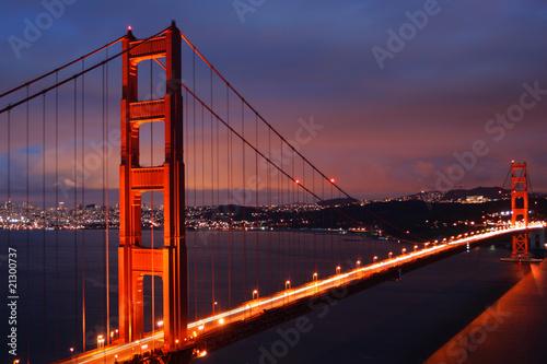 Spoed Foto op Canvas Groen blauw Golden Gate Bridge, San Francisco..