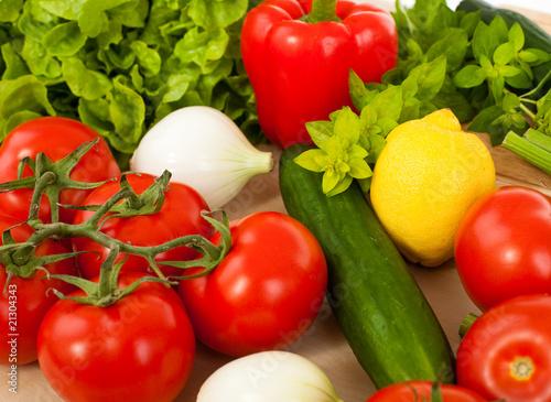 Printed kitchen splashbacks Fresh vegetables Healthy fresh vegetables