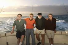Family On Fishing Boat (portrait)