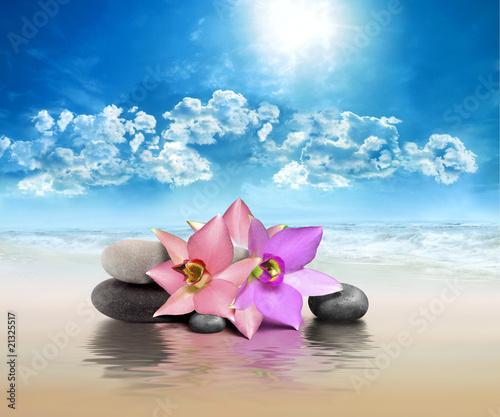 Photo sur Plexiglas Zen pierres a sable Spa Beaute et Bien-Etre