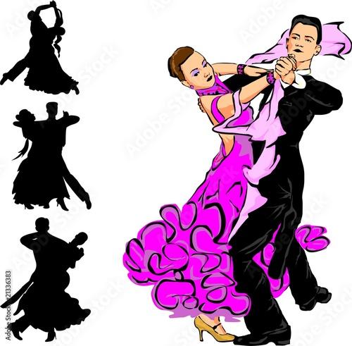 Foto op Plexiglas ballroom dancing