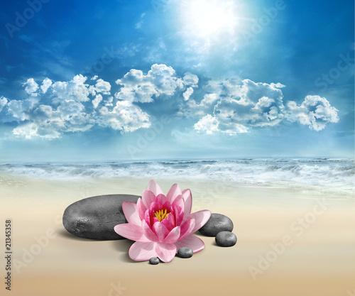 Photo sur Plexiglas Zen pierres a sable Beaute Et Soleil