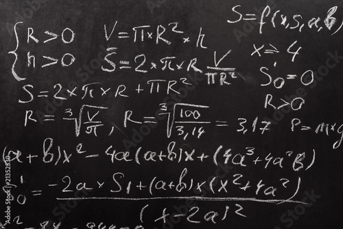 Fotomural Mathematical equation