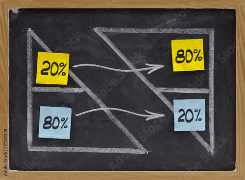 Photo  Pareto eighty twenty principle