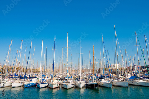 Photo  Row of yachts