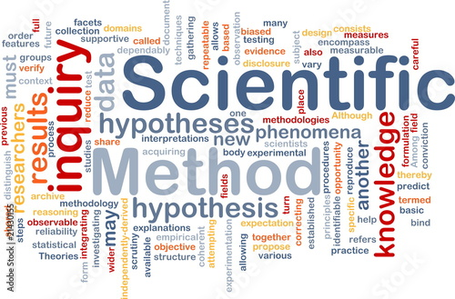 Fotografia  Scientific method background concept