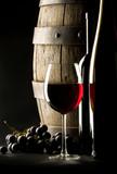 Drewniana beczka z winem