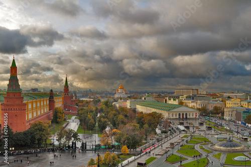 Foto auf Gartenposter Stadt am Wasser Center of Moscow