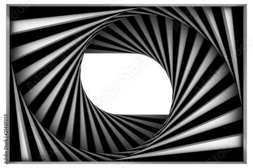 Plakat Czarno-biała spirala