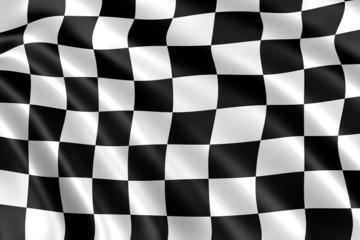 drapeau damier noir et blanc formule 1