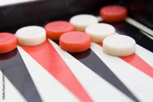 Fotografija backgammon board with checkers