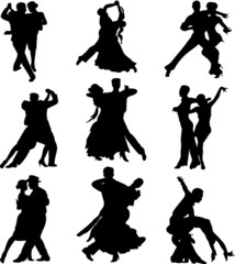 Fototapeta dance icons 2