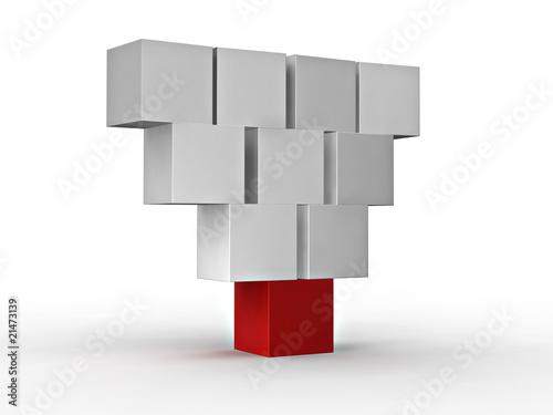cube_hierarchy Fototapeta