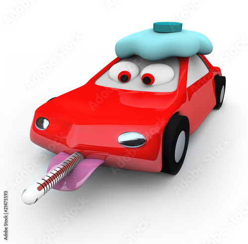 Cadres-photo bureau Voitures enfants Broken Down Car - Thermometer