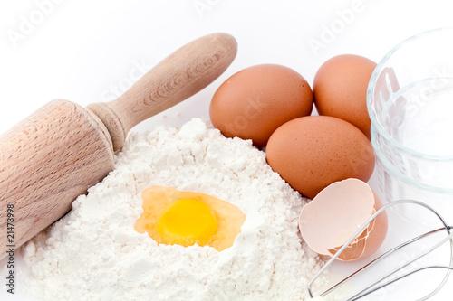 In de dag Bakkerij Préparatifs pour pâtisserie