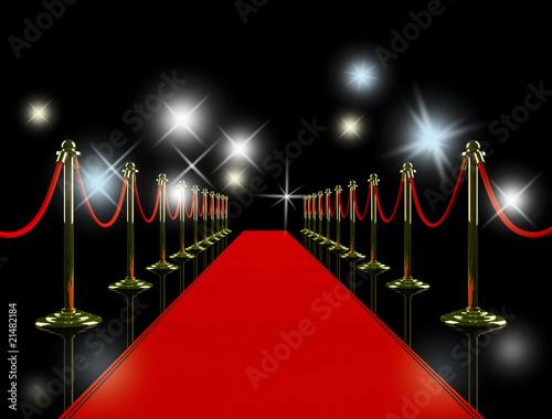 Photo  Red carpet at night.