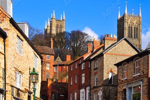 Fotografia  A street in historic Lincoln, England