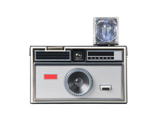 Vintage Classic Camera Isolated With Clipping Path