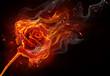 Leinwandbild Motiv flamy symbol
