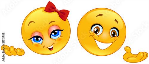 Photographie Presenter emoticons
