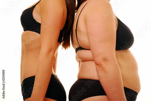 Fotografia  Tłuszcz i cienki kształt ciała
