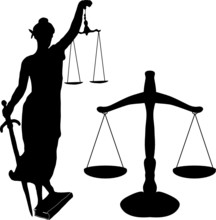 Justice Statue And Libra