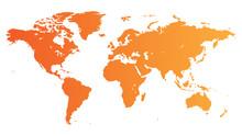Orange World Map