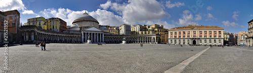 Foto auf AluDibond Neapel Panoramic view of San Francesco di Paola church; Naples; Italy