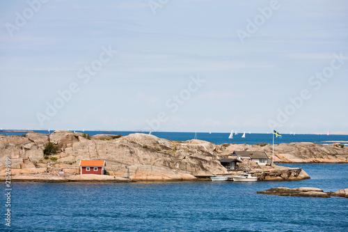 Foto op Plexiglas Poolcirkel archipelago