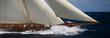 canvas print picture - voilier en mer