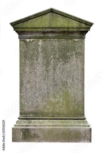 Leinwand Poster Blank gravestone
