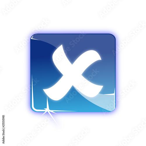 Fotografia, Obraz  Picto fermer croix - icon close cross