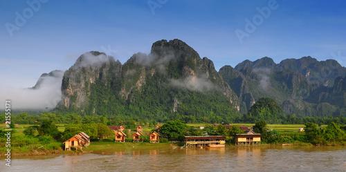Foto  Ansicht von Vang Vieng, Laos