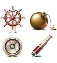 Vector Marine Travel Icons. Pa...