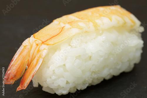 Photo Sushi-Reis mit Riesengarnele