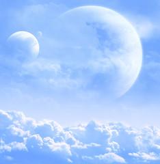 Fototapeta kosmos błękitne niebo