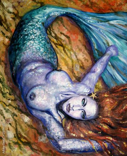 namalowana-syrena-malarstwo-akrylowe