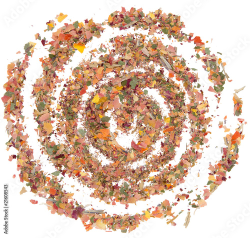 Fototapety, obrazy: Spiral-galaxy from dried rose petals
